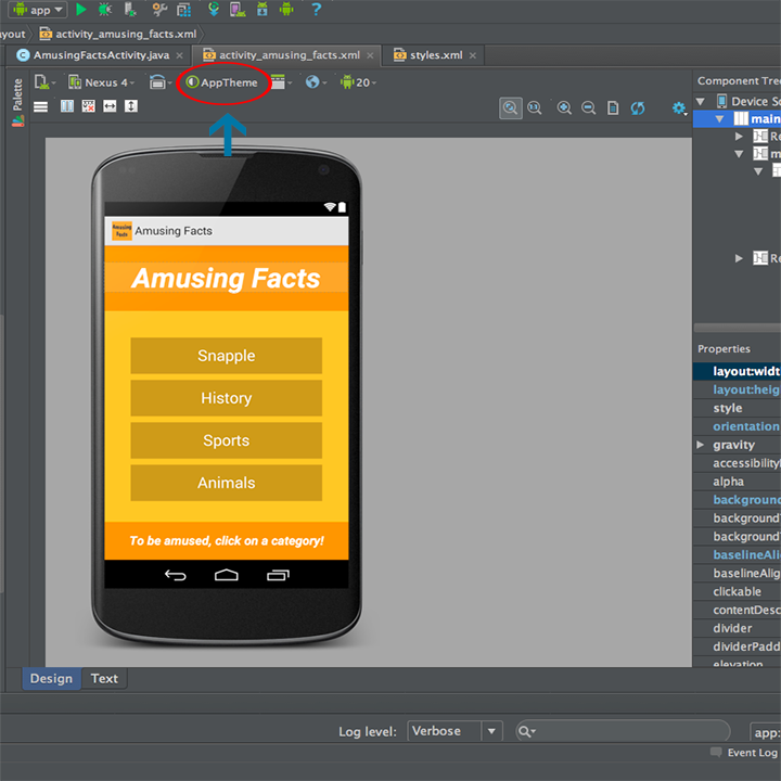 Android Studio App With No Title Bar